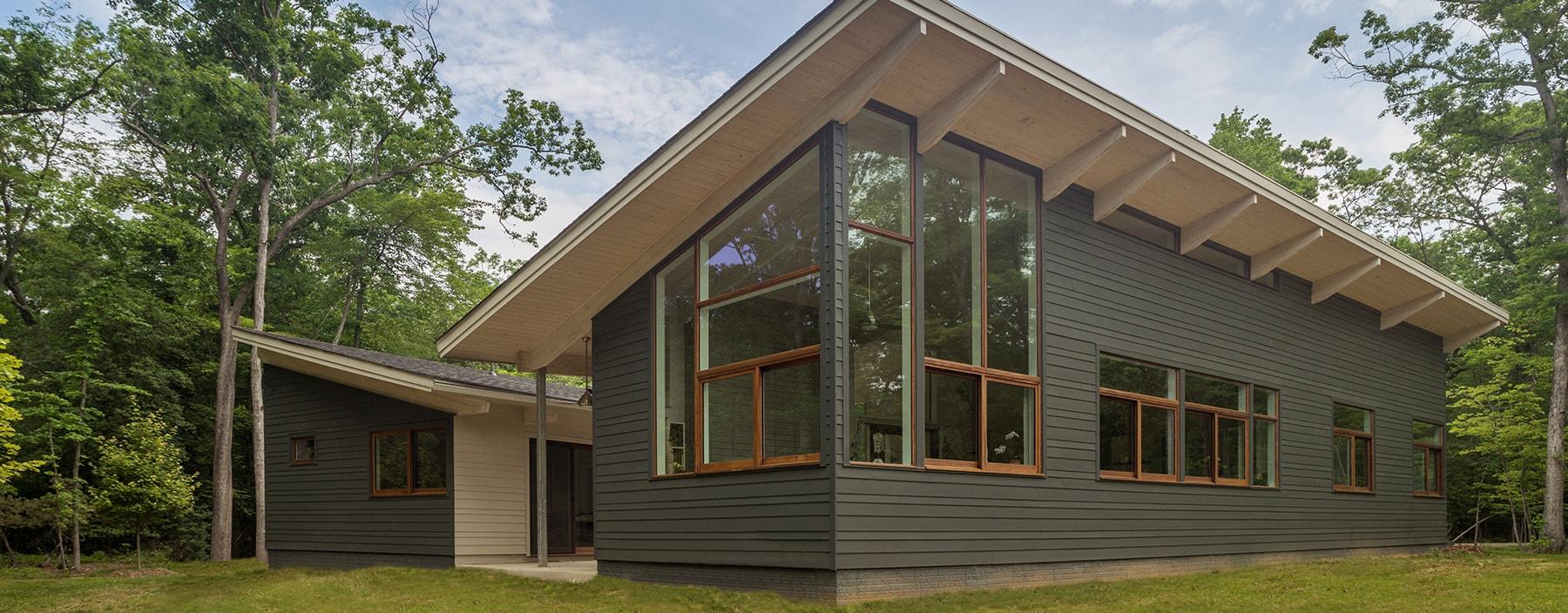 Acorn deck 39 s kit homes washington post acorn deck house for Acorn house designs
